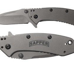 Banner Sapper Military Engineer Engraved Kershaw Cryo 1555Ti Folding Speedsafe Pocket Knife By Ndz Performance