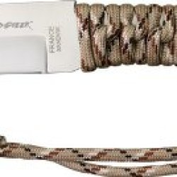 Wild Steer Knives Wt2011 Wild Tech 2 Fixed Blade Knife With Desert Camo Paracord Wrapped Handles