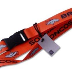 Orange Denver Broncos Clip Lanyard