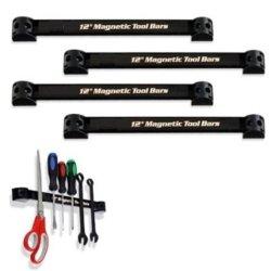 "Heavy-Duty 12"" Magnetic Tool Organizer Racks - The Most Efficient Tool Storage Method! (4)"