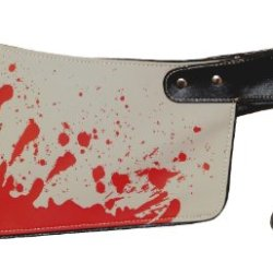 Bloody Cleaver Clutch Hatchet Knife Kreepsville 666 Halloween Horror Clutch Purse Handbag