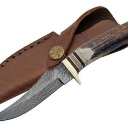 Szco Supplies Damascus Slim Blade Skinning Knife