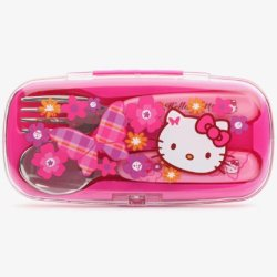 Hello Kitty Spoon And Fork Set: Butterfly