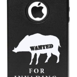 Iphone 5C Wanted For Invading Back Yards Feral Pigs Boars Aluminum And Silicone Case