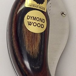 Alaskan Dymondwood Ulu Pocket Knife Folding Multi Naturals
