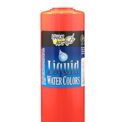 Handy Art By Rock Paint, 276-154, Washable Liquid Watercolor 1, Fluorescent Red, 8-Ounce