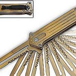 """2.75"""" """"Joker"""" Mini Spring Assisted Folding Knife - Gold"""