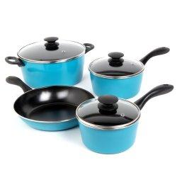 Sunbeam 91504.07 Armington 7-Piece Cookware Set, Teal