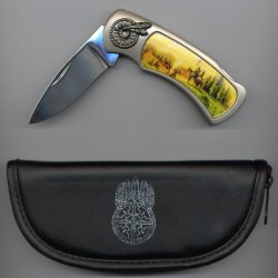 "The American Legacy ""Tribesmen"" Collectible 3"" Lockback Knife"