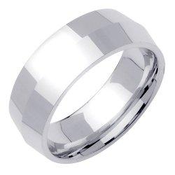 Knife Edge Wedding Band In Platinum (8Mm)