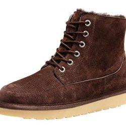 Rock Me Men'S Flak Ii Thick Fur Winter High Top Snow Boot(9 D(M) Us,Chocolate)