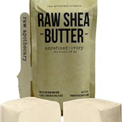 Raw Apothecary Unrefined Raw Shea Butter (Ivory) 16Oz