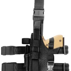 Blackhawk! Omega Vi Elite Black Holster, Size 22, Left Hand, (Colt 45, Browning 9Mm-Left)
