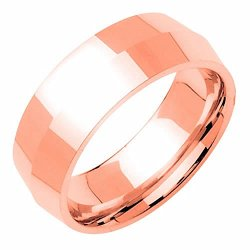 14K Rose Gold Traditional Knife Edge Women'S Wedding Band (8Mm) Size-3