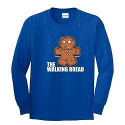 Gingerbread Zombie Youth Long Sleeve T-Shirt Large Royal