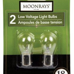 Moonrays 95506 18-Watt Bayonet Base Replacement Light Bulb, 2-Pack
