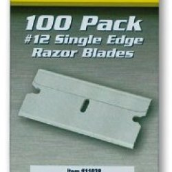 Titan 11038 #12 Single Edge Razor Blade - 100 Piece