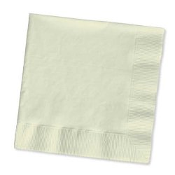 Solid Ivory Lunch Napkin