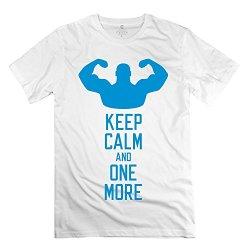 Man Keep Calm One More T-Shirts - Vintage Custom White T Shirts