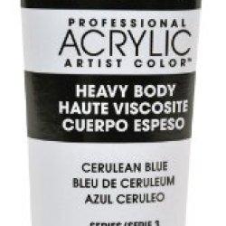 Liquitex Professional Heavy Body Acrylic Paint 2-Oz Tube, Cerulean Blue