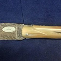 Laguiole En Aubrac Special Damascus Hunting Solid Horn Knife