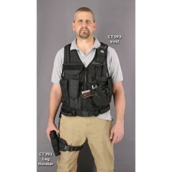 Colt Knives 391 Tactical Gear Drop Universal Semi-Automatic Handgun Leg Holster With Heavy Black Ballistic Nylon Construction