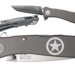 Tx Star Texas Custom Engraved Sog Twitch Ii Twi-8 Assisted Folding Pocket Knife By Ndz Performance