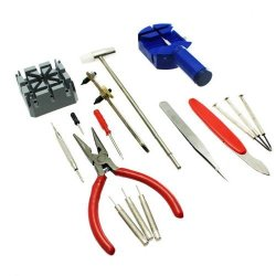 S9Q 16In1 Pc Watch Repair Pin Strap Remover Opener Screwdriver Tool Kit Set