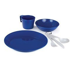 Gsi Outdoors Cascadian 1 Person Tableset (Blue)