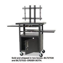 Balt Adjustable Height Flat Panel Tv Cart - Black