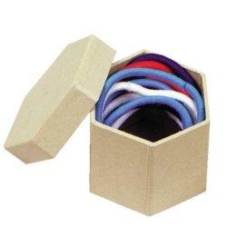 Chenille Kraft Papier-Mache Hexagon Mini Box - 1 1/2 Inches