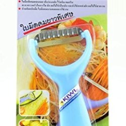 Kiwi Pro Slice Zigzag Stainless Peeler Papaya,Vegetable,Slicer, Stainless Steel