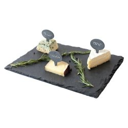 Top Shelf Living - Slate Cheese Board Set (S/3 Cheese Markers With Slate Cheese Board)