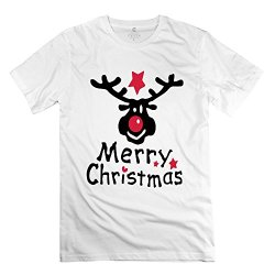 Merry Christmas Reindeer Art Favorable Man T Shirts Size Xs Color White