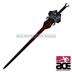 Ace Martial Arts Supply Satinless Dragons Breath Fire Medieval Fantasy Sword With Plaque And 2 Daggers, 44-Inch, Red