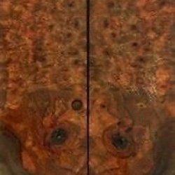 "Chechen Burl Eye 2 Pc Knife Scale 1/4""X1 1/2""X6"" 805"