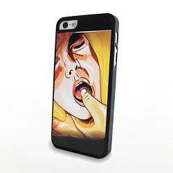 Generic Matte Hard Plastic Phone Cases Sexy Woman Finger In Mouth Fit For Iphone 5/5S