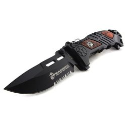 "Unlimited Wares Usmc Marines ""Iron Mike"" Assisted Opening Folding Knife 5.25-Inch Closed"