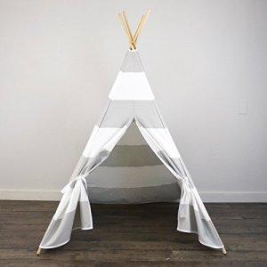 AniiKiss-6-Giant-Canvas-Kids-Teepee-Play-Tent-Grey-Stripes