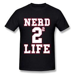 Wei-Jr Men'S Nerd 4 Life T-Shirt Size Xxl Black