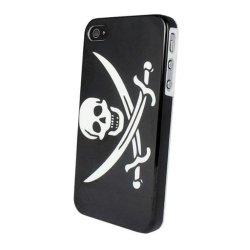 Aokdis New Hot Fashional Individualized Hard Case Back Cover For Iphone 4 4G 4S (Knife Skull Bone)