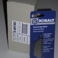 Kobalt Serrated Blades For Utility Knife 10 Blades Per Pack X 5 Packs(50 Blades)