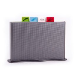 Joseph Joseph Index Advance Color Coded Chopping Boards, Silver, Large