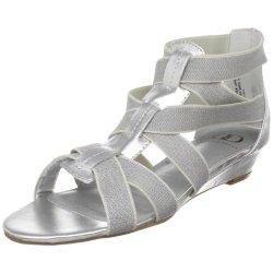 Kelsi Dagger Women'S Dylana Ankle-Strap Sandal,Silver,6 M Us