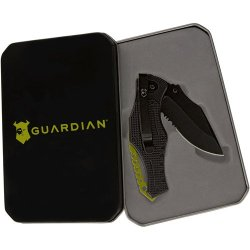 """3"""" Tactical Folding Clip Knife In Gift Tin Durable Nylon Handle Comfortable Grip"""