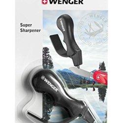 Wenger Super Sharpener Carbide Knife Sharpener, Black