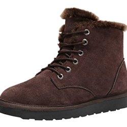Rock Me Men'S Flak I Winter Plush High Top Snow Boot(10 D(M) Us, Brown)