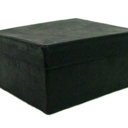 Paper Mache Mini Rectangle Box Black By Craft Pedlars