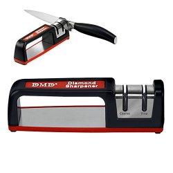 Deluxe Diamond 4-Wheel Kitchen Knife Sharpener - Instant Razor-Sharp Knives