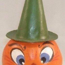 Ino Schaller German Paper Mache Halloween Pumpkin